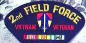 II FIELD FORCE VIETNAM VETERAN BLACK PATCH(Can be sewn or ironed on jacket or hat) Patch 7.6cm x 13cm