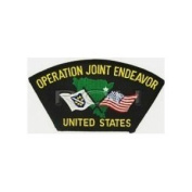 OPERATION JOINT endeavour* UNITED STATES BLACK PATCH(Can be sewn or ironed on jacket or hat) Patch 7.6cm x 13cm