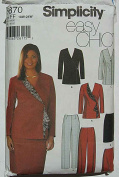 Simplicity 5870 Sewing Pattern ~ Easy Chic Women's Skirt, Slim Pants and Lined Jackets, Sizes 18W-24W