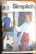 Simplicity 8236 Sewing Pattern ~ Misses' Split Skirt in 2 Lengths, Slim Skirt and Shirt Jacket, American Classics , Sizes 18-22