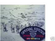 SPECIAL FORCES VIETNAM VETERAN EMBLEM BLACK PATCH(Can be sewn or ironed on jacket or hat) Patch 7.6cm x 13cm