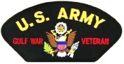 U.S. ARMY GULF WAR VETERAN BLACK PATCH(Can be sewn or ironed on jacket or hat) Patch 7.6cm x 13cm