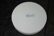LA Crafts Brand 15cm x 2.5cm Smooth Foam Craft Disc - 12 Pack