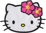 Sanrio Hello Kitty Iron On Patch - Head Cat Applique