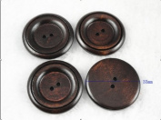 50pcs New 2 Hole Wood Buttons 35mm Sewing Craft
