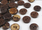200 Pcs New Thick Coconut Shell 2 Holes Button Craft/sewing/hot Products