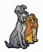 Walt Disney Lady & The Tramp Dogs Embroidered Iron On Applique Patch