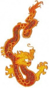 Dragon - Orange Oriental Chinese Logo Fire Patch