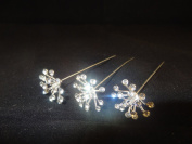 rhinestone Explosion Pins. Pack of 3