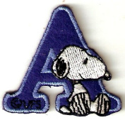 Snoopy ABCs Alphabet Letter A Iron On / Sew On Patch
