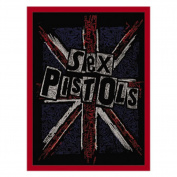 Novelty Iron on Patch - Band / Music Sex Pistols Cross Logo Applique