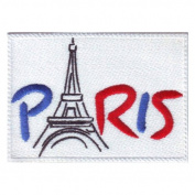 Paris France (A) Embroidered Sew on Patch