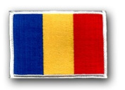 "FLAG OF ROMANIA 3½"" SHOULDER PATCH"