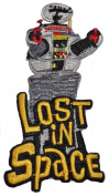 LOST IN SPACE TV Series Logo and ROBOT 10cm Tall Embroidered PATCH