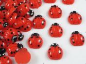 40pcs of Resin Ladybug Flatback Appliques/kids the DIY Craft Appliques Red