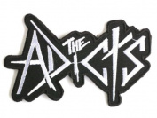"THE ADICTS Logo Punk Skins Droogs Iron On Patch 4""/10cm x 2.4""/6cm BY MNC SHOP"