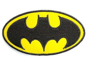 BATMAN Classic Logo Iron On Sew On Embroidered Patch Approx