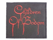 CHILDREN OF BODOM Drip Logo Iron On Metal Band Patch Approx