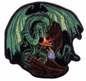 Dragon Vs Eagle Embroidered [13cm ] Biker Patch