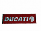 Ducati Logo Motor Motorcycles Bike Patches Embroidered Patch SIZE : 3.2cm x 11cm