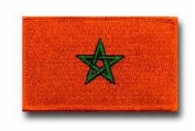 "FLAG OF MOROCCO 3½"" SHOULDER PATCH"