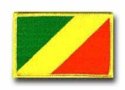 "FLAG OF THE CONGO 3½"" SHOULDER PATCH"