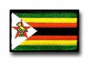 "FLAG OF ZIMBABWE 3½"" SHOULDER PATCH"