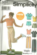 Girls pants in Two Lenghts, Shorts, Skirt, Jacket And Knit Top (Simplicity Sewing Pattern 5643, Size