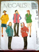 GIRLS UNLINED JACKET OR VEST, PULL ON SKIRT & PANTS SIZE 7-8-10 MCCALLS SEWING PATTERN 2974