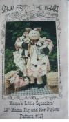 MAMA'S LITTLE SQUEALERS - 46cm MAMA PIG AND HER PIGLETS SEWING PATTERN FROM SEWN FROM THE EHART #117