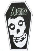 MISFITS Coffin Skull Logo Iron On Punk Horror Embroidered PatchApprox
