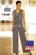 Misses Sleeveless Top Wide Legged Pants See & Sew 3538 Sewing Pattern Size 6 - 8 - 10