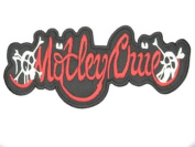 """MOTLEY CRUE Logo Iron On Embrodered Patch 4.6""""/12.7cm x 1.2""""/3.2cm BY MNC SHOP"""
