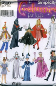 Simplicity Costume Pattern Children Clown, Witch, Wizard, Pirate, Riding Hood, More