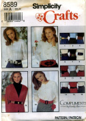 Simplicity Crafts Belts Compliments By Randy Allen Sewing Pattern # 8589