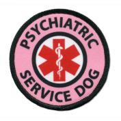 Pink PSYCHIATRIC SERVICE DOG Medical Alert Symbol 10cm Sew-on Patch