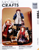 McCALL'S CRAFTS 7980 46cm DOLLS & CLOTHES ~ (The Sewing Sisters) by Michelle Hains