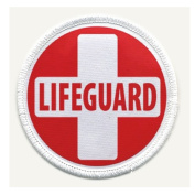LIFEGUARD CROSS Red White Heroes 10cm Sew-on Patch
