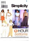 Simplicity 8863 Sewing Pattern Misses Skirt Pants Shorts 1 Hour Bottoms Size 18 - 24 - Waist 32 - 39