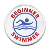 BEGINNER SWIMMER Pool Safety Alert 10cm Sew-on Patch