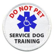 DO NOT PET Medical Alert Symbol 10cm Sew-on Patch