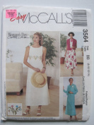 McCall's Pattern 3564 Misses'/Miss Petite Dress and Unlined Jacket Sizes 8-10-12-14