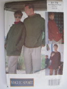 Vogue Pattern 8176 Unisex Top Sizes XS-S-M