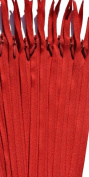 YKK Conceal ~ Invisible Zipper 25cm Hot Red (519) ~ Pack of 12 Zippers