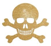Glitter Skull Bone 15cm Iron-On Fabric Transfer