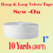 2.5cm (Inche) Width Black or White Sew on Hook & Loop - Premium Grade Non-adhesive Sew-on Style Sold Includes Hook and Loop Both Strips Interlocking Tape Sold By 5, 10, 27 Yards