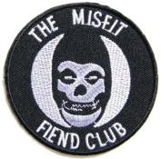 "7.6cm "" x 7.6cm THE MISFITS FIEND CLUB Skull Crimson Hardcore Heavy Metal Rockabilly Rock Punk Music Band Logo jacket T-shirt music patch by Tourlesjours"
