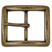 Tandy Leather Seaton Centre Bar Buckle 2.5cm - 1.3cm Antique Brass Finish 1645-09