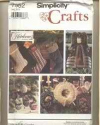 Simplicity Crafts 7952 Ornaments, Stockings, Wreaths and Treetop Angels