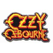 Ozzy Ozbourne Heavy Metal Band Logo Embroidered Woven Patch, 4'w x 2'h